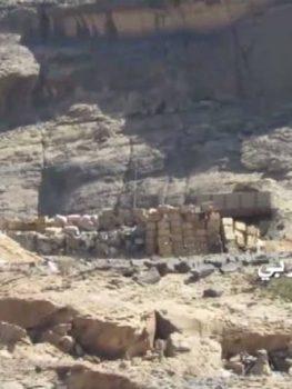 مشاهد جديدة لاستهداف موقع العش السعودي شرق عليب بنجران